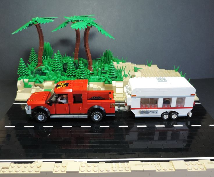 Lego Truck And Trailer Pickup truck with trailer More
