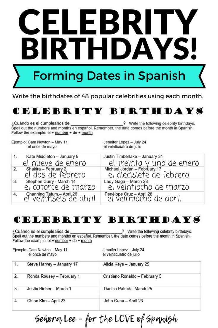 Forming Dates In Spanish Fun Calendar Activity To Learn How To