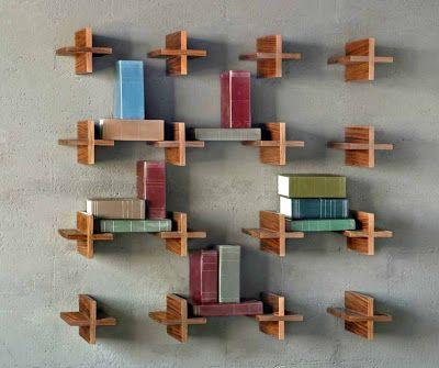 Libreros modernos libreros pinterest libreros - Muebles para libros modernos ...