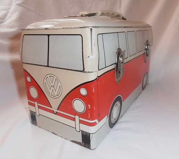 1960's lunch boxes | VW Bus Metal Lunch Box from 1960 by capraistic on Etsy