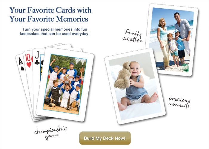 Personalized Playing Cards Gift Or Party Favor Idea