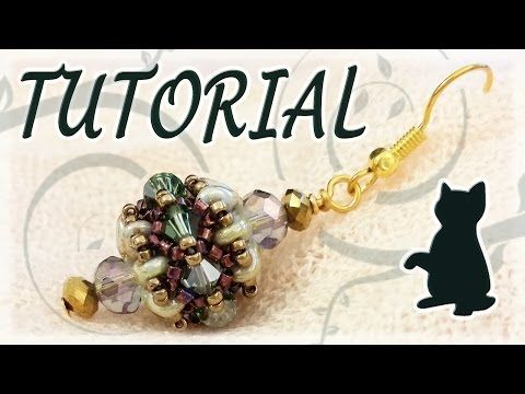 Beading tutorial: Superduo beads and Swarovski bicones and... cats! - YouTube