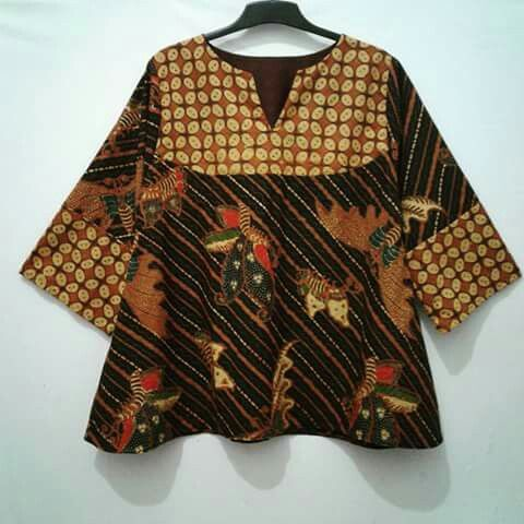 my project: batik tunic made from batik solo kawung and kupu usus keli motife