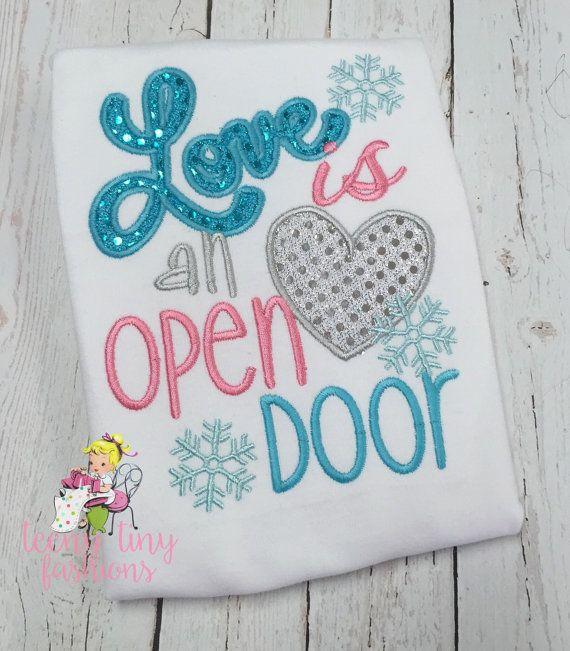 Frozen shirt Love is an Open Door Elsa Shirt Anna
