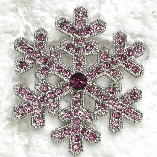 12 piece/lot фиолетовый кристалл горный хрусталь снежинка броши свадьба ну вечеринку пром цветок булавка брошь C926 D
