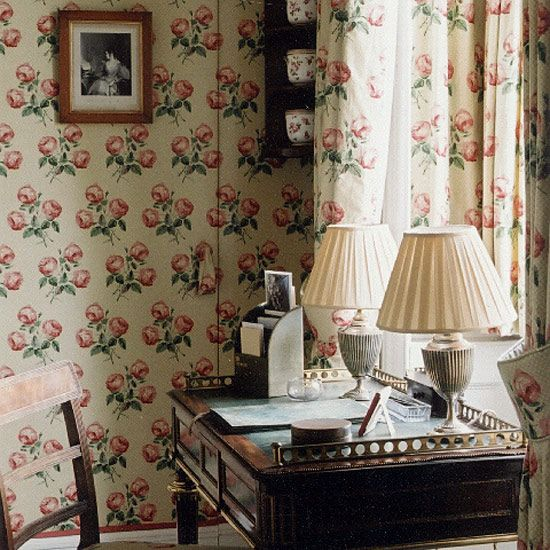 Traditional and lovely. Bowood chintz from Colefax & Fowler