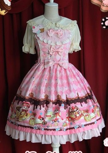Infanta Sweet Cream Cat Lolita JSK Dress