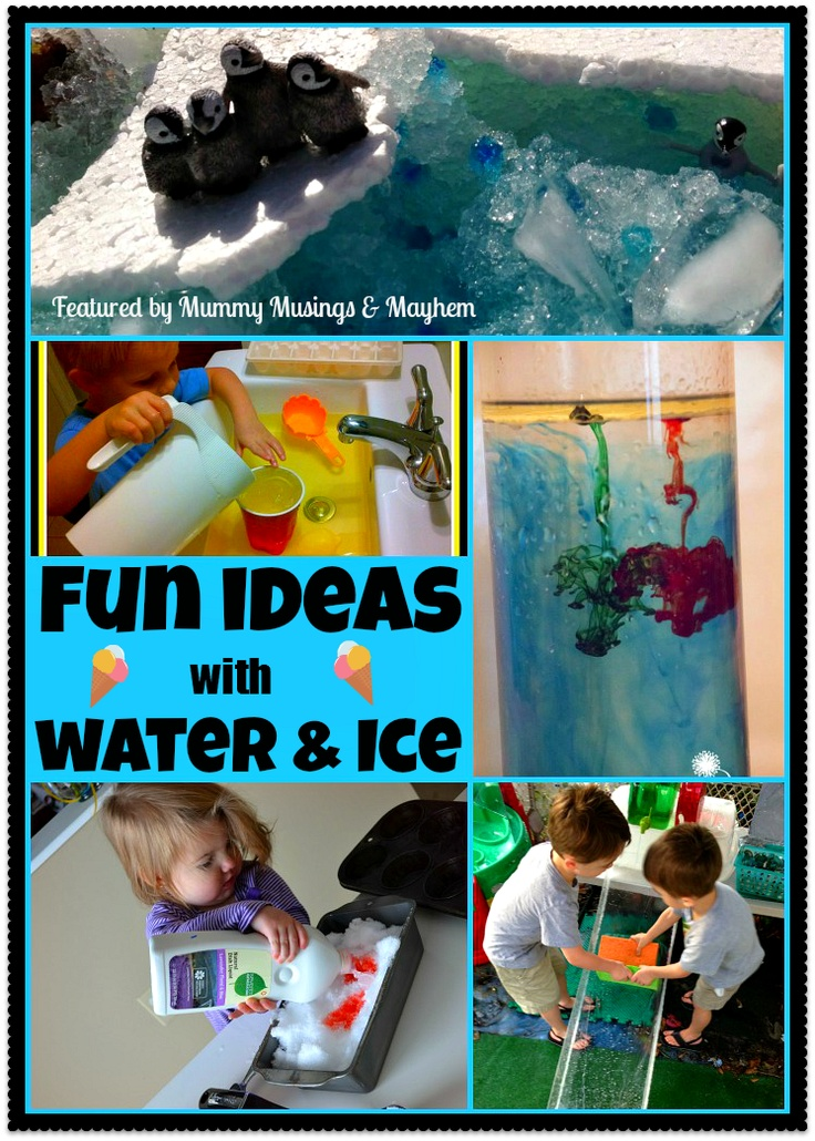 Great list of featured fun activities  with water and ice...perfect for Summer or Winter play! Have you linked up to the Weekly Kid's Co-Op yet?