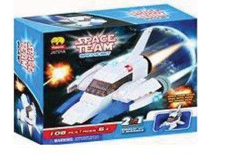 Space Team 2 in 1 BricTek Building Block Set - 106 Pieces