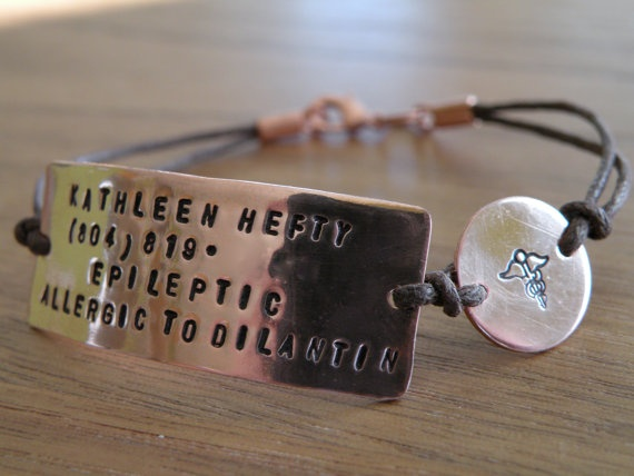 Medical Alert Bracelet Customize With Your Own Info My Style Pinterest Bracelets And Jewelry