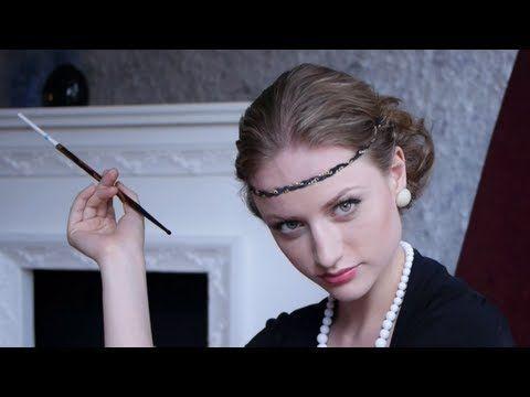 Retro MakeUp & Hair Tutorial / Ретро макияж и прическа - YouTube