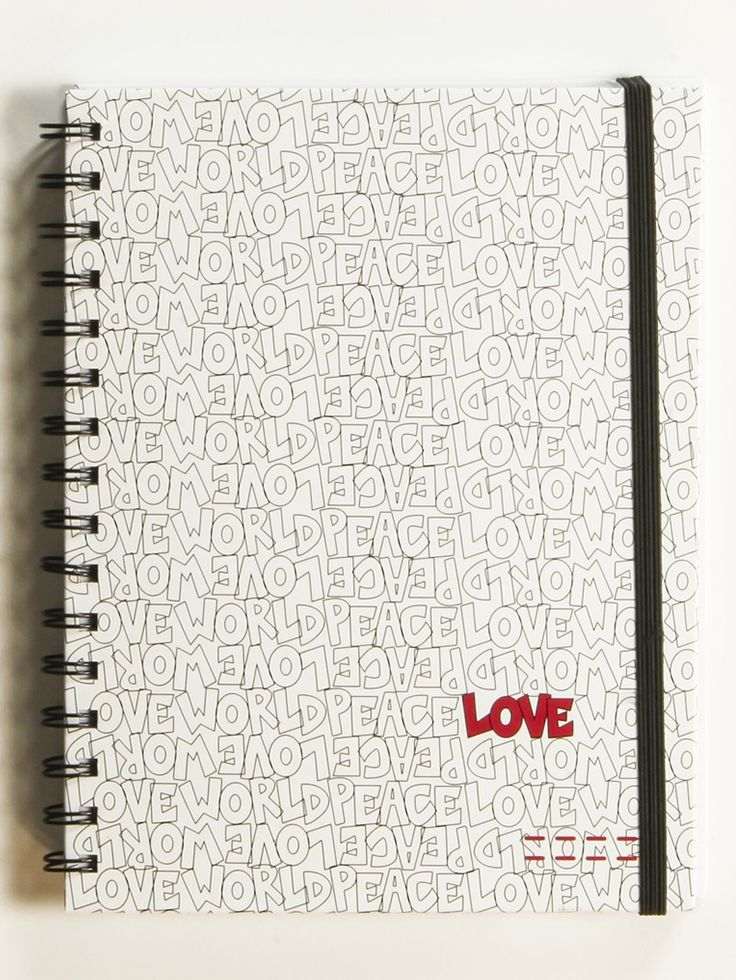 Peace Love World Pattern White Journal I Really Like This One Too How Many Journals