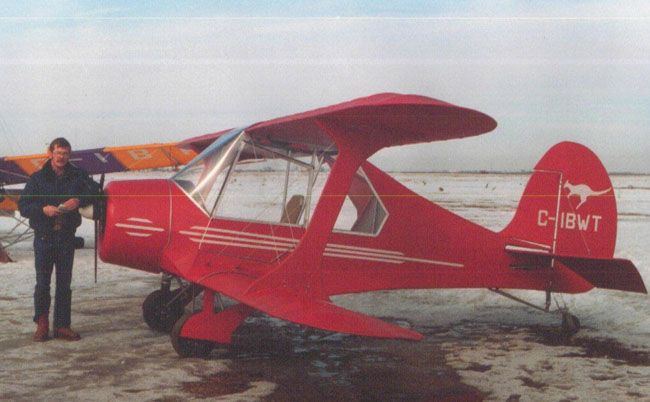 BeachBoy staggerwing ultralight and light sport aircraft plans.
