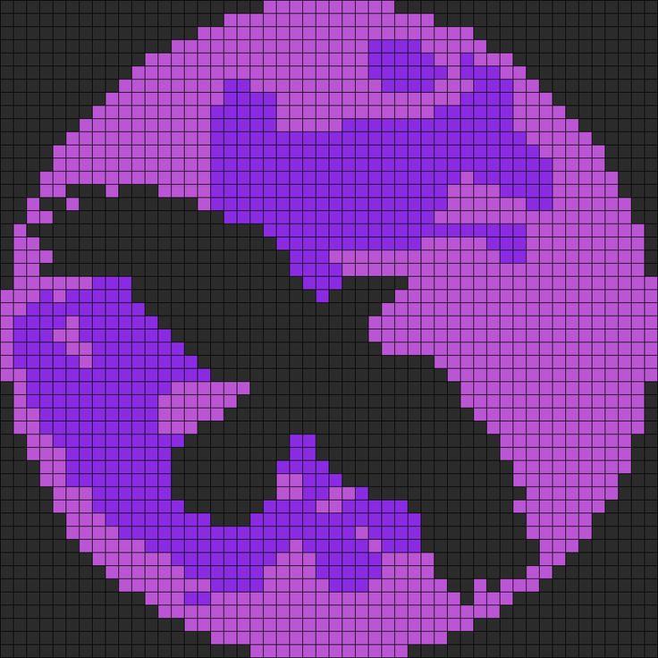 Crow N Purple Moon Perler Bead Pattern / Bead Sprite