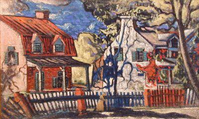 Maisons en été, 1936 - Marc-Aurèle Fortin