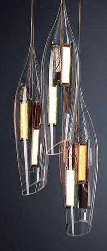 design pendant lamp (blown glass) TULIP liternity