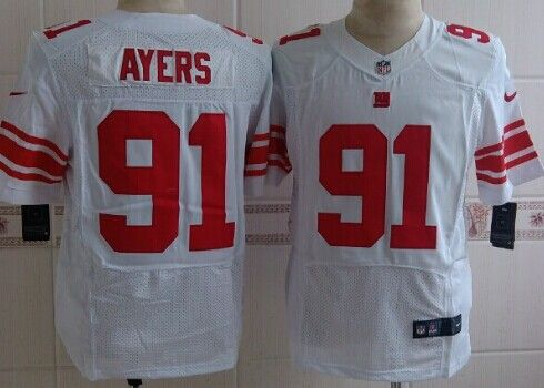 nike new york giants 91 robert ayers white elite jersey ¥22