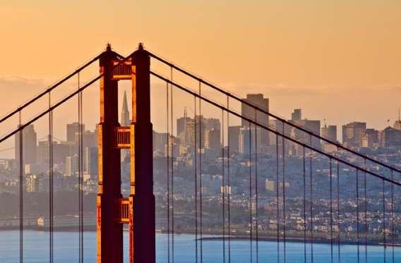 "Where: San Francsico, CaliforniaIf you stand still on the ""international orange""-colored, 1.7-mile l... - Golden Gate Bridge"