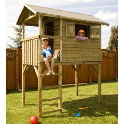 Casetta bambini legno per giardino rialzata Casetta per bambini in legno da giardino rialzata da terra L 240 X P 120 X H 290 cm www.alberti-import-export.com