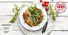 Recept voor gepaneerde kalkoenfilet met sperziebonensalade #Lidl #Zomer