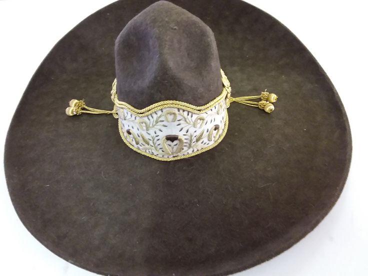 Sombrero Charro de Lana. Color Cafe 57 Mex 7-1/8 Americano
