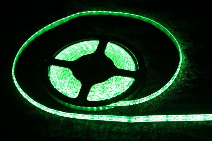 Strip Lighting LED Green SMD3528 IP65 5 metre Roll 9.6w/m 120 LED/m A$30.80 www.ecoindustrialsupplies.com