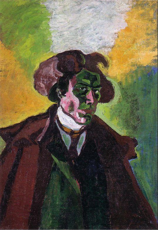Bohumil Kubišta - Self-portrait (1908) #painting #Czechia #art #CzechArt