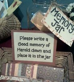 Memory jar.  See more 80th birthday party suggestions at one-stop-party-ideas.com. party food party ideas #shabbychic #girlparty #PartyIdeas party decorations