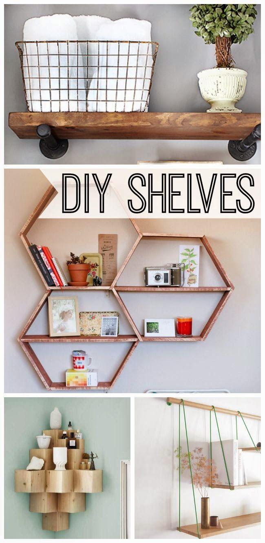 Craft Project Ideas: 10 Stylish DIY Shelves