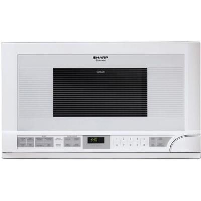 Sharp 1.5 cu. ft. Over the Counter Microwave in White with Sensor Cooking - R1211T at The Home Depot