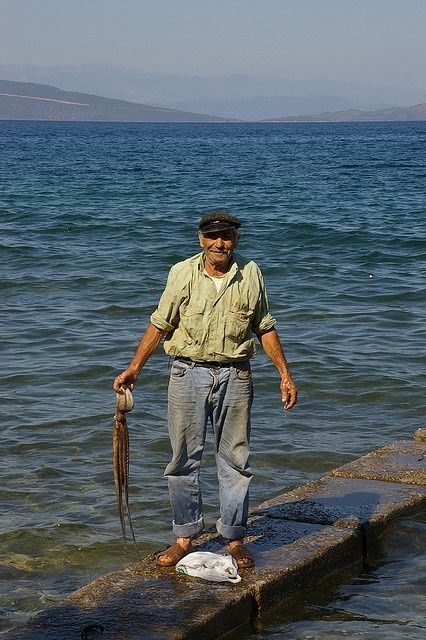 Fisherman in Milina