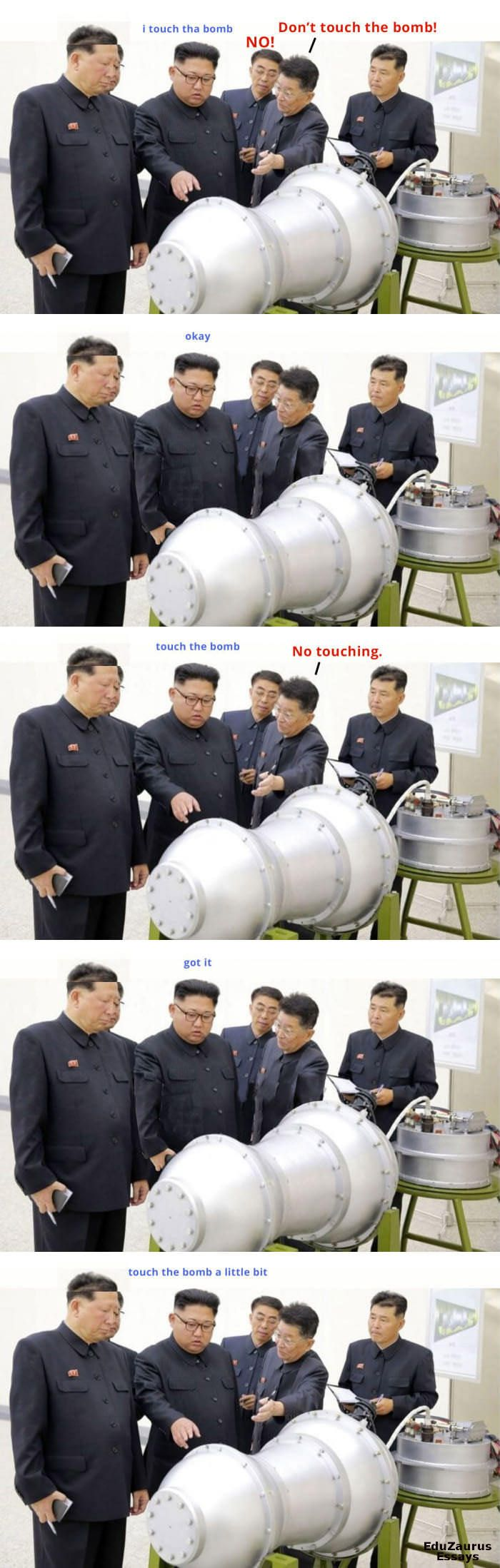 Don't touch the bomb