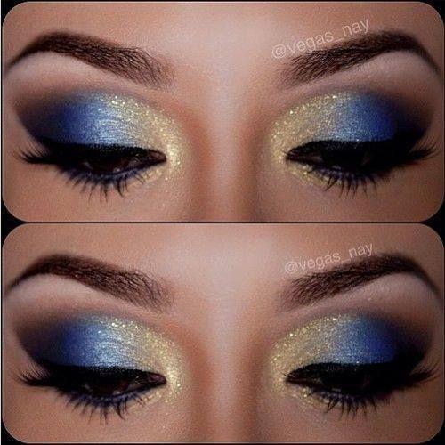 blue gold eyeshadow