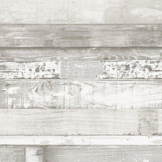 Chippy White Washed Shiplap Farmhouse Wallpaper Coastal Etsy In 2020 Farmhouse Wallpaper Wood Plank Wallpaper Brick Wallpaper Roll