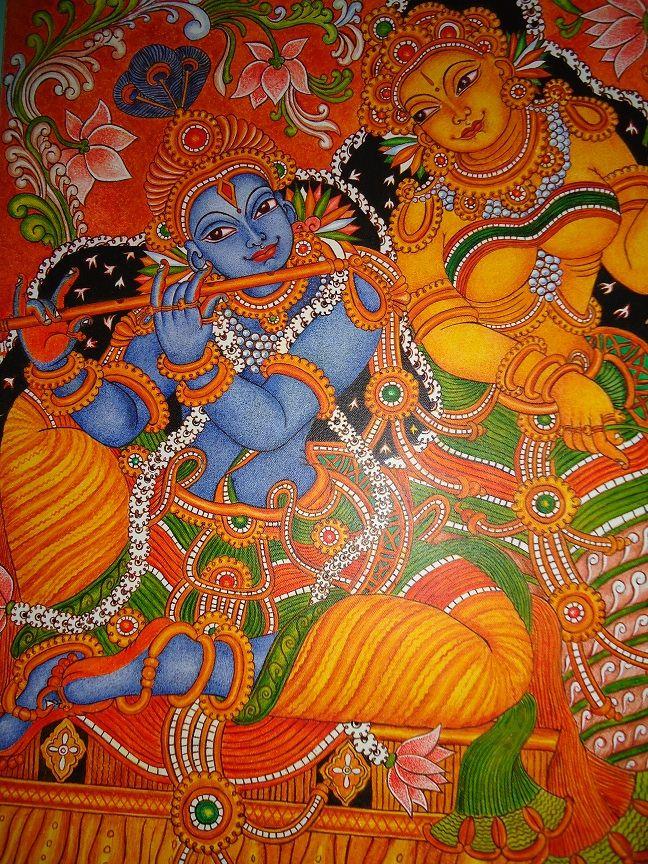 Mural of Radha-Krishna
