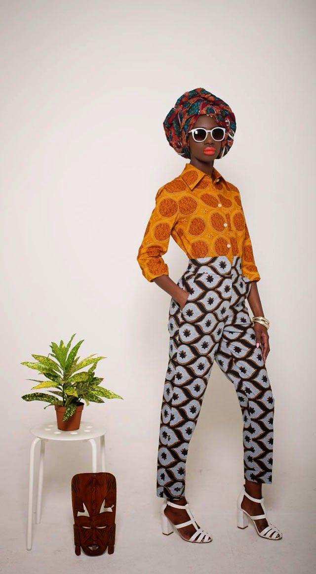Pantalones estampados africanos