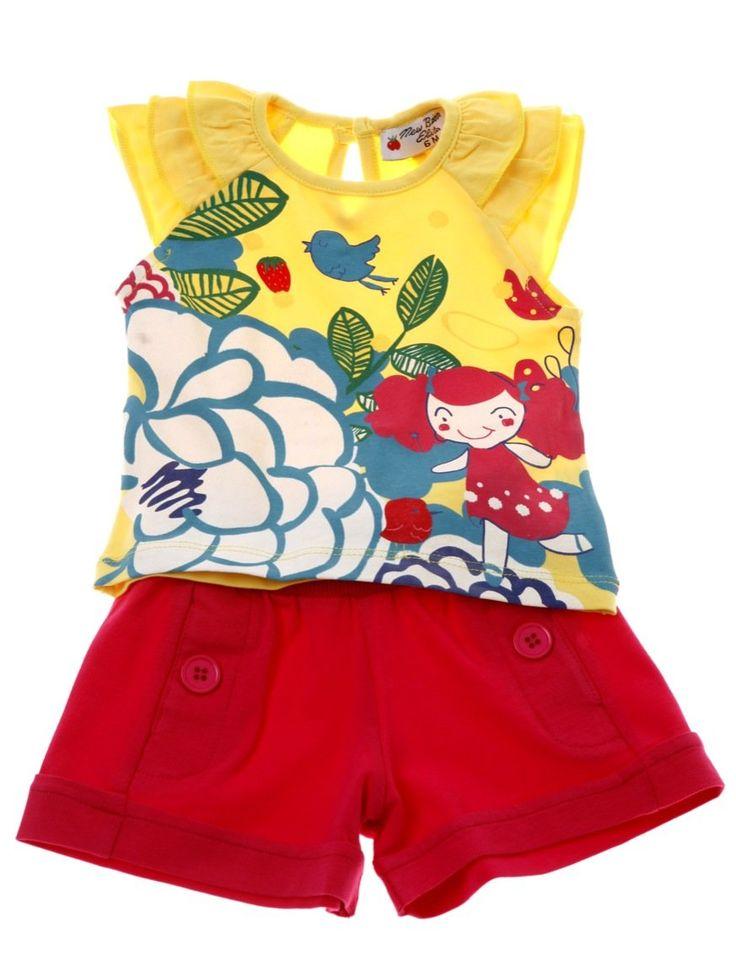 Εβίτα βρεφικό σετ μπλούζα-παντελόνι σορτς «Cute Bird»  €12,00