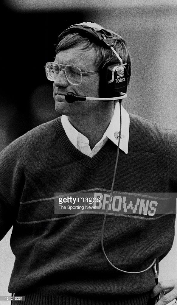Marty Schottenheimer</a> of the Cleveland Browns looks on circa 1980s.