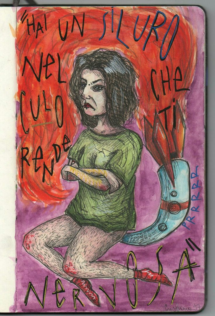 Selfportrait illustration girl by @distrofiamuscolare in IG  #selfportrait #illustration #illustrazione #illustrationoftheday #illustrator #italian #poem #ironic #girl #girlpower