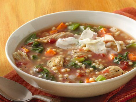 Chicken and Pastina Soup - Treat your family to a hearty dinner with this flavorful soup that's made with chicken, Progresso® broth, pasta and vegetables.