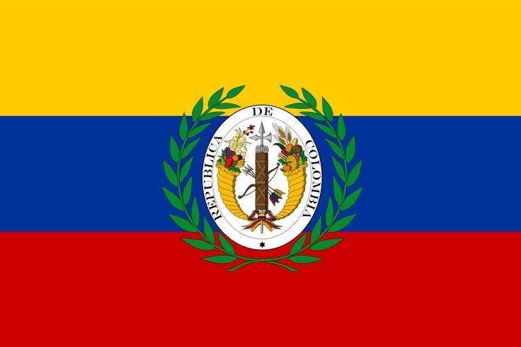 La bandera de la que pudo ser la nación mas grande en América, La Gran Colombia; conformada por la unión de Colombia, Venezuela, Ecuador y Panamá bajo una misma república. Se conoce también que Cuba, la República Dominica y Haití tenían la intención de integrarse.