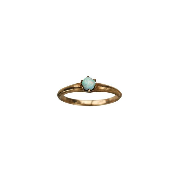 1900s Opal Ring, 10K Gold : Erie Basin Antiques ($150) ❤ liked on Polyvore