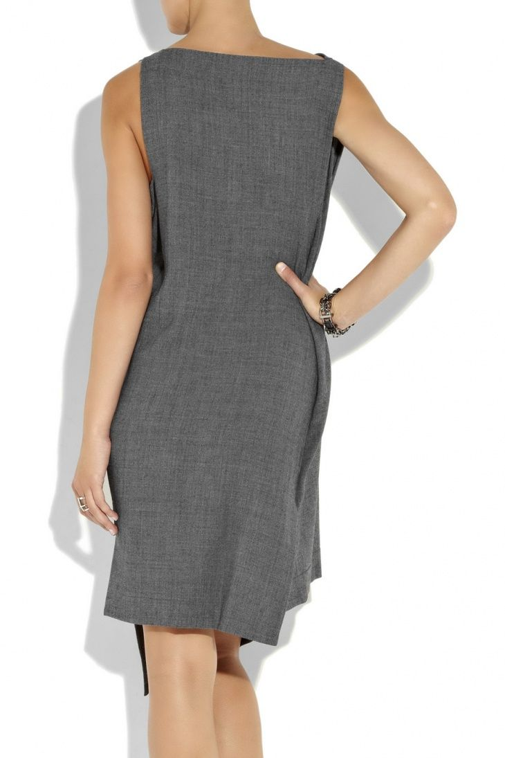 Если вы выкроили спинку платья футляр, а потом не знаете что делать с передом — просто пришейте прямоугольник