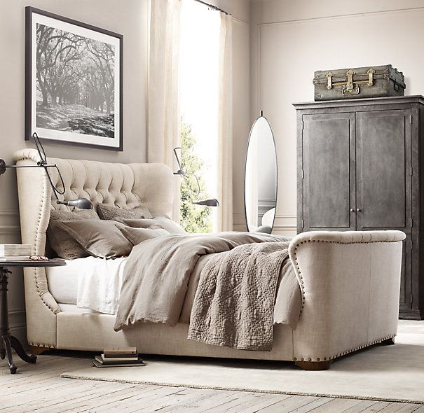 churchill upholstered bed upholstered beds restoration hardware