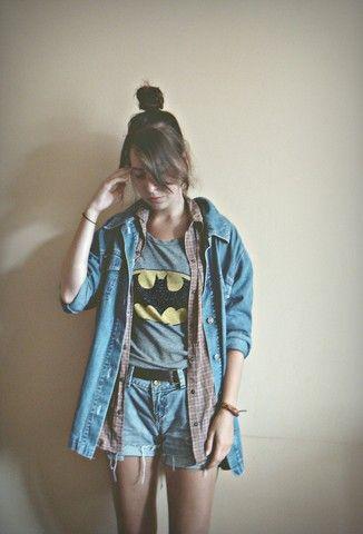 Diy Denim Shorts, Batman, Levis Denim Shirt
