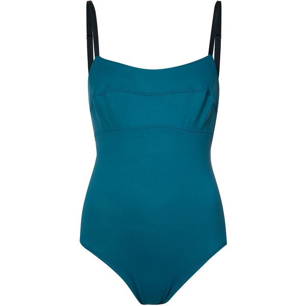 Malia Mills stitched detail swimsuit (6.752.265 IDR) ❤ liked on Polyvore featuring swimwear, one-piece swimsuits, green, swimming costume, malia mills bathing suits, malia mills, bathing suit swimwear and green bathing suit