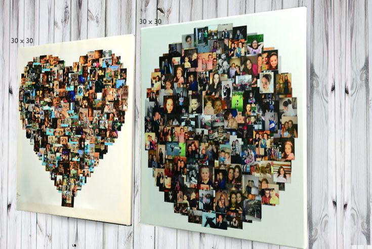 Personalised Photo Collage - 3 Shapes & 4 Sizes! deal in Art Spruce up your home with a personalised photo collage canvas.  Display up to 150 of your best snaps.  Choose from the following designs: heart, square or circle-shaped.  Each design comes in your choice of four sizes (see below).  Printed onto high quality matte white canvas for maximum effect.  Perfect house-warming gift for a loved...