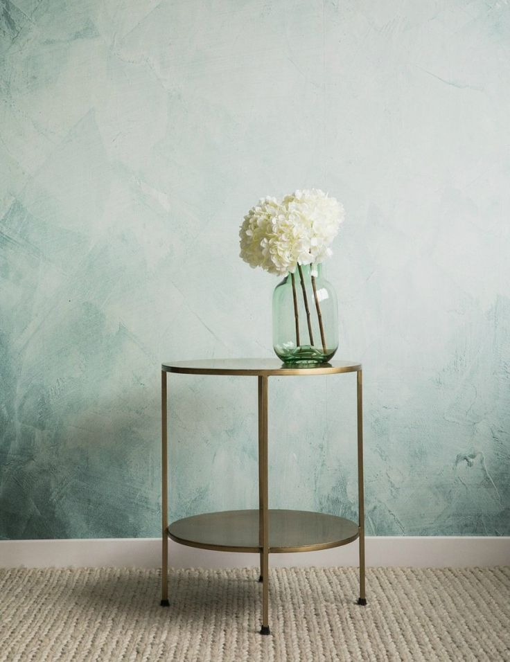 Grace Two Tier Round Brass Side Table at Rose & Grey