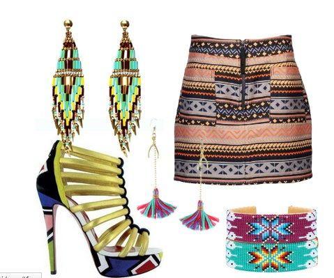 motywy etniczne w modzie indianskie