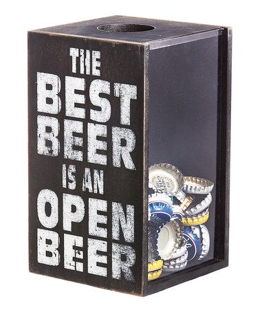 The best beer is an open beer bottle cap holder. I don't know why I love cap and cork holders.